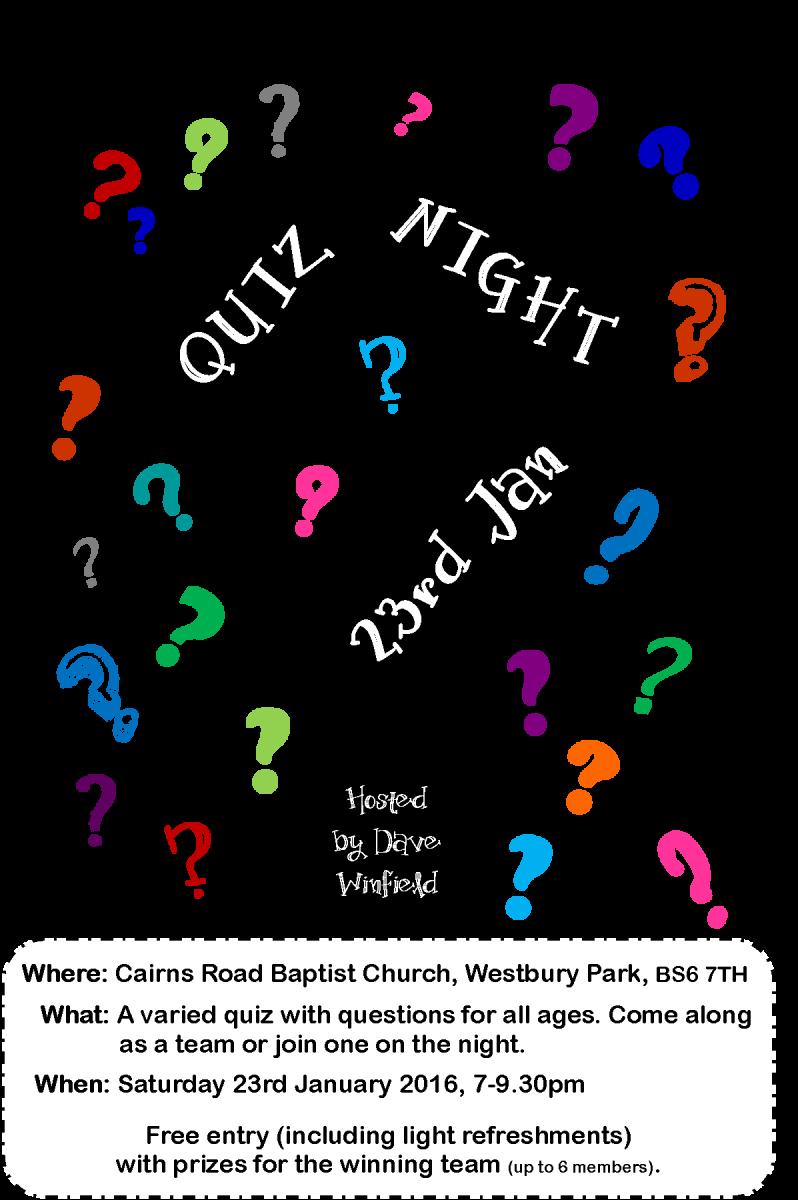 Quiz flyer