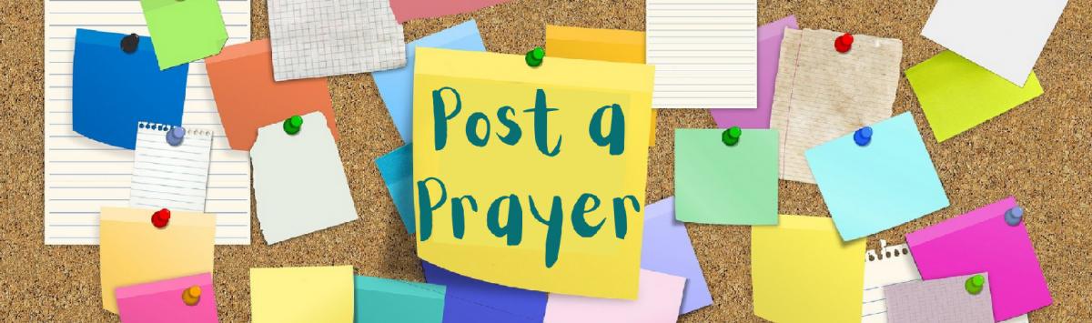 Post an anonymous prayer